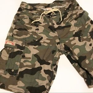 True Religion Shorts - True Religion Camo Cargo Surf Shorts Sz 38